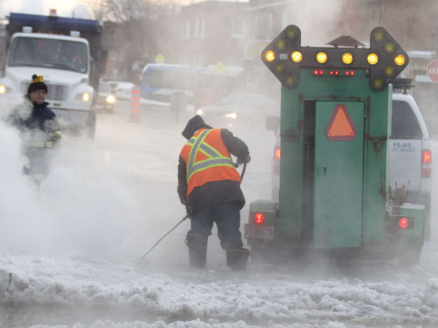 Pipe break at winter in Toronto
